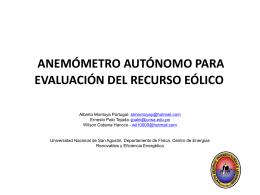 anemómetro autónomo para evaluación del recurso eólico