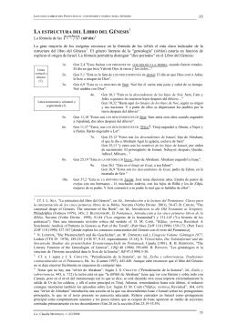 (2) La estructura de los libros que conforman el Pentateuco