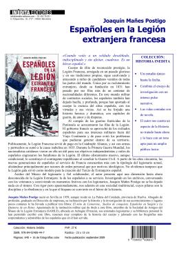 Españoles en la Legión extranjera francesa
