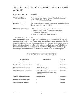 PADRE DIOS SALVÓ A DANIEL DE LOS LEoNES (A.3.1.12)