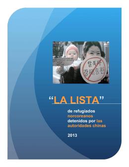 """LA LISTA"" - North Korea Freedom Coalition"