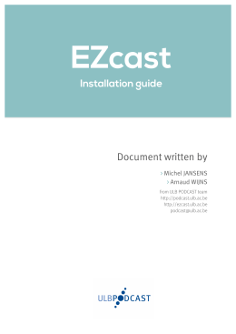 Document written by Installation guide