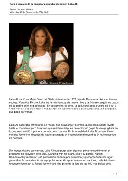 Cara a cara con la ex campeona mundial de boxeo: Laila Ali