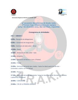 Cronograma e Inscripción. - Federación Argentina de Kendo
