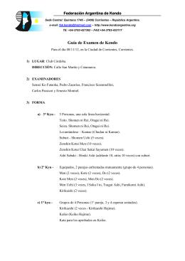 Plan y Temario para Examen de Kendo.