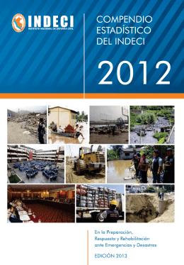 compendio estadístico del indeci 2012. en la preparación, respuesta