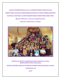 directorio nacional ministerios hispano/latinos presbiterianos national