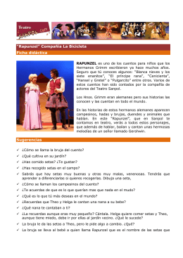 """""""Rapunzel"""" Compañía La Bicicleta Ficha didáctica"""