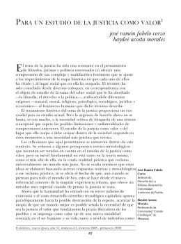Para un estudio de la justicia como valor. José Ramón Fabelo