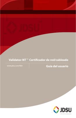 Validator-NTf Certificador de red/cableado Guía del usuario