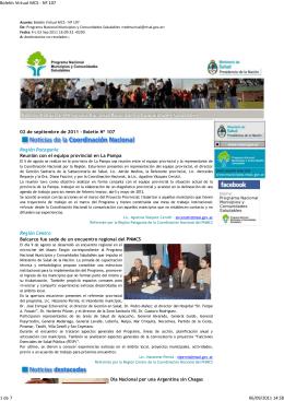107 Boletín Virtual - Ministerio de Salud