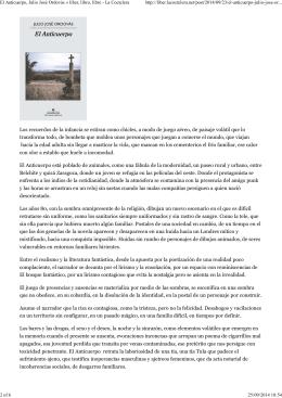 (El Anticuerpo, Julio José Ordovás « liber, libro, libre