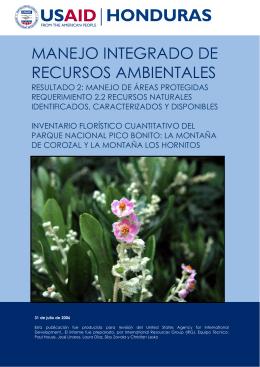 Inventario florístico cuantitativo del Parque Nacional Pico Bonito