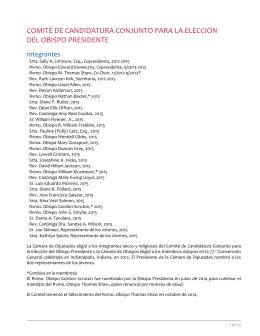 comité de candidatura conjunto para la elección del