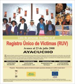 Registro Único de Víctimas (RUV)