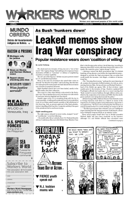 Leaked memos show Iraq War conspiracy
