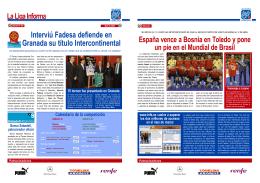 Interviú Fadesa defiende en Granada su título