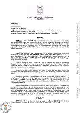 anuncio completo - Ayuntamiento Fuensalida