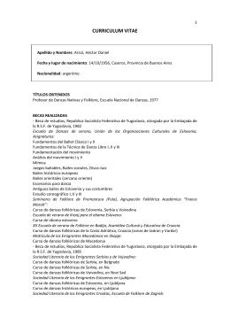 Curriculum Vitae completo de Héctor Arico - PDF