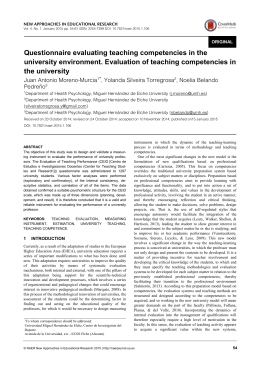 Questionnaire evaluating teaching competencies in the university
