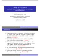 Páginas WEB Accesibles Checkpoints