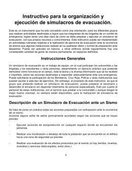 Instructivo para la organización y ejecución de simulacros de