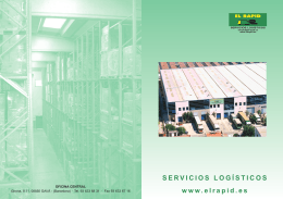 Folleto - Transportes El Rapid