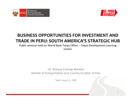 BUSINESS OPPORTUNITIES FOR INVESTMENT AND TRADE IN