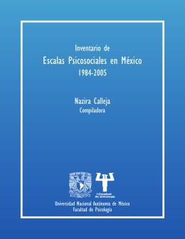 Escalas Psicosociales en México - Facultad de Psicología