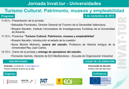 Más info - Instituto Universitario de Investigaciones Turísticas
