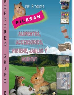 catalogo pilesan de alimentos jaulas accesorios e higiene de