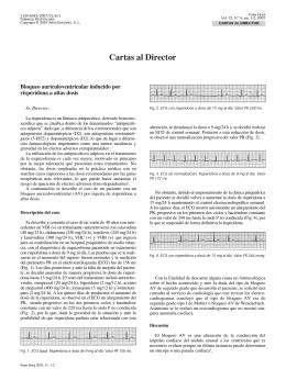Bloqueo auriculoventricular inducido por risperidona a altas dosis