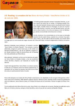 J.K. Rowling. La creadora de los libros de Harry Potter. Yate/Reino