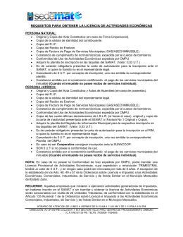 requisitos para obtener la licencia de actividades económicas