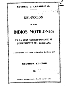 Reducción de los indios motilones - Actividad Cultural del Banco de