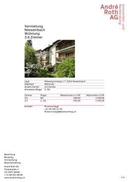 Factsheet – ANDRE ROTH AG Immobilien- und