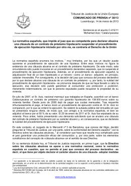 Comunicado de Prensa - curia