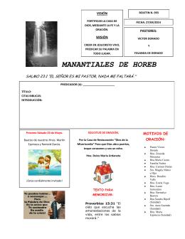 MANANTIALES DE HOREB