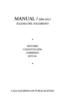 manual /2009-2013 iglesia del nazareno