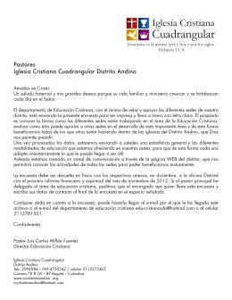 Encuesta - Distrito Andino Iglesia Cristiana Cuadrangular