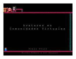 Avatares en Comunidades Virtuales