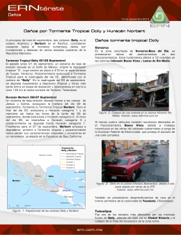 Daños por Tormenta Tropical Dolly y Huracán Norbert