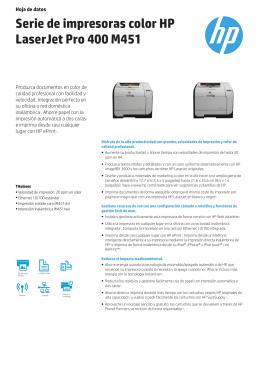 Serie de impresoras color HP LaserJet Pro 400 M451