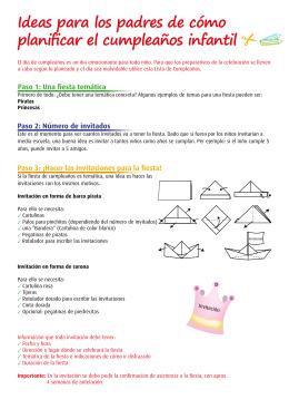 Ideas para los padres de cómo planificar el cumpleaños infantil