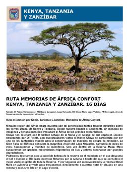 ruta memorias de áfrica confort kenya, tanzania y zanzíbar. 16 días