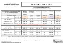 VILLA GESELL Bus - 2015