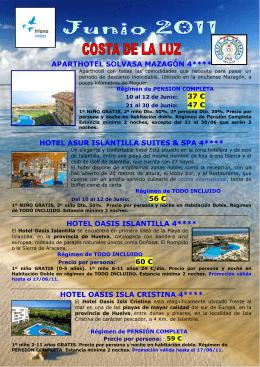 hotel oasis islantilla 4 - Grupo de Empresa Airbus Military Sevilla