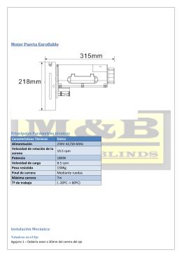 Motor Puerta Enrollable - Motores para persianas