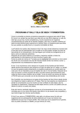 6º RALLY IBIZA Y FORMENTERA