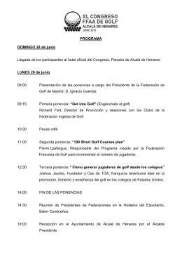 Descargar programa en PDF - XL Congreso de Federaciones